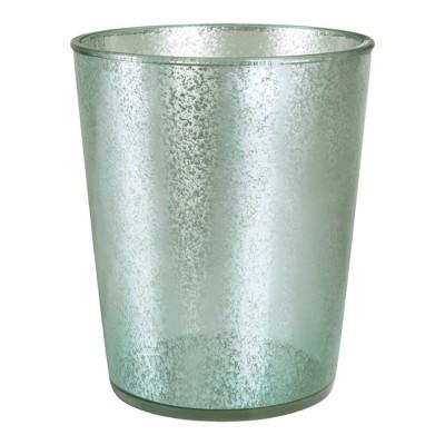 Athena Wastebasket Blue/Silver - Allure Home Creations