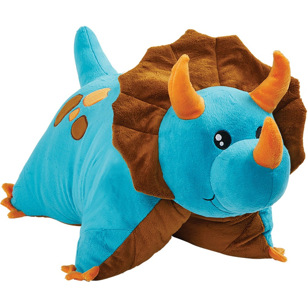 Image of Blue Dinosaur Pillow Pet, Decorative Pillow