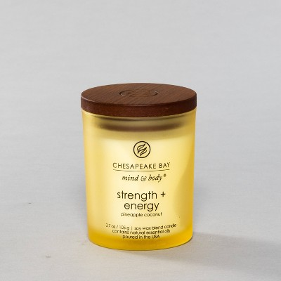 3.7oz Small Jar Candle Strength & Energy - Mind And Body By Chesapeake Bay Candle
