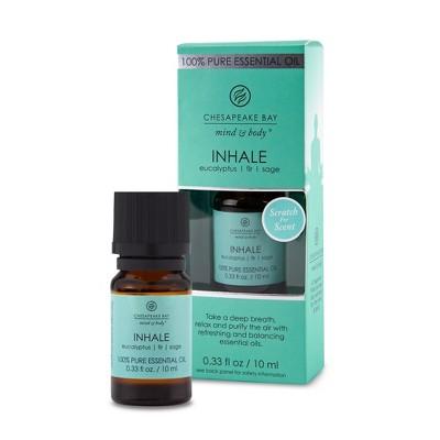 .33 fl oz Chesapeake Bay Candle 100% Pure Essential Oil Inhale Eucalyptus/Fir/Sage