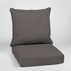 Canvas Texture Deep Seat Outdoor Cushion Set - Arden Selections