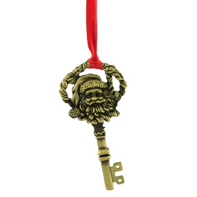 "Holiday Ornament 3.25"" A Key For Santa Christmas No Chimney  -  Tree Ornaments"