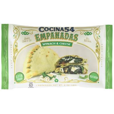Cocina54 Gluten Free and Vegetarian Frozen 54 Spinach & Cheese Empanada - 4oz