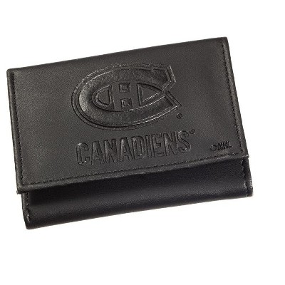 Leather Montreal Canadiens Tri-fold Wallet