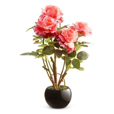 """16.5"""" Pink Rose Flower - National Tree Company"""