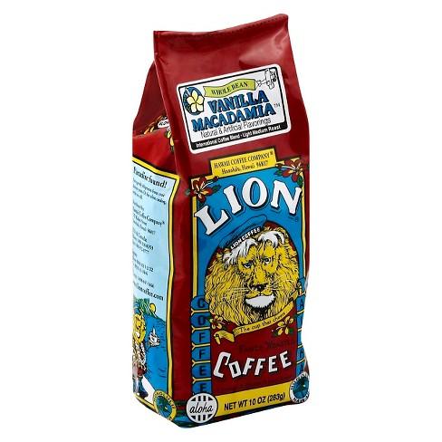 Lion Coffee Vanilla Macadamia Medium Roast Whole Bean Coffee - 10oz - image 1 of 1