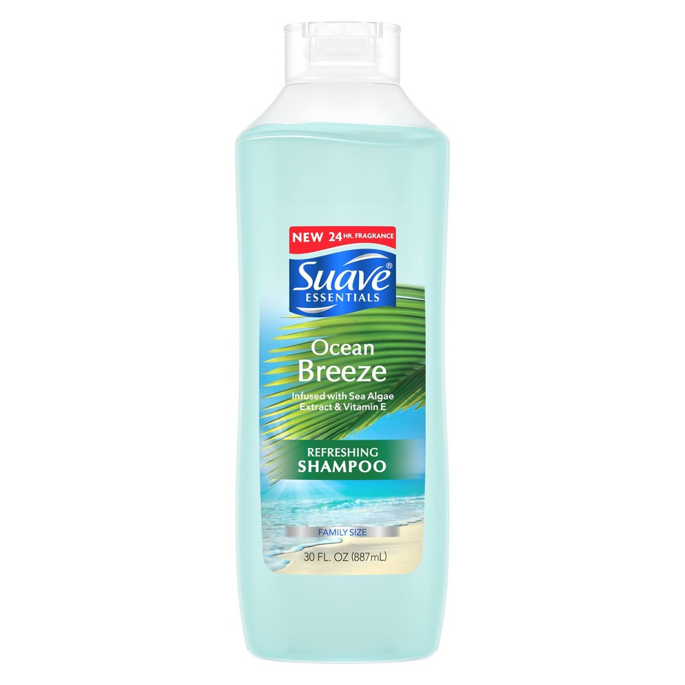Image of Suave Essentials Ocean Breeze Infused With Sea Algae Extract & Vitamin E Shampoo - 30 fl oz