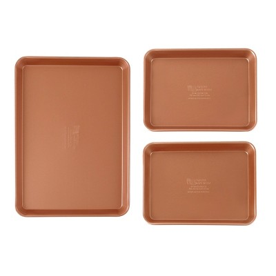 FamilyTraditions 3pc Copper Bakeware Set