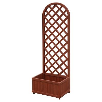 11.75  Floor Rectangular Garden Rectangular Planter Box Rectangular - Brown - Convenience