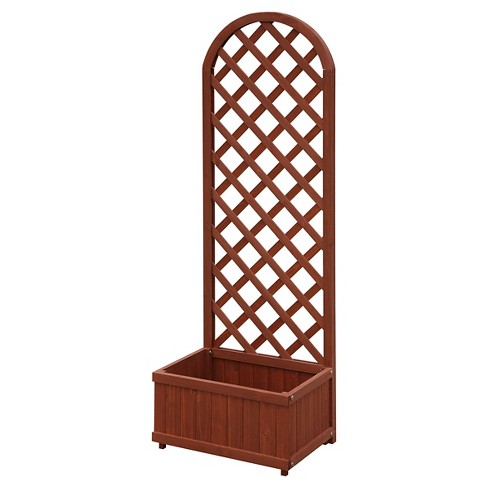 11 75 Floor Rectangular Garden Planter Box Brown Convenience Target