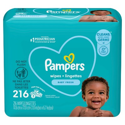 Pampers Fresh Baby Wipes - 216ct
