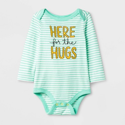 Baby Long Sleeve 'Here for the Hugs, Bodysuit - Cat & Jack™ Green Newborn