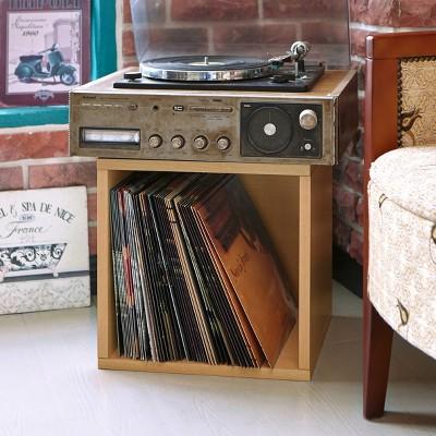 Vinyl Record Storage Cube, Stackable LP Album Cubby By Way Basics, Natural    Lifetime Guarantee : Target