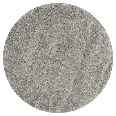 Quincy Rug - Silver (4' Round)- Safavieh