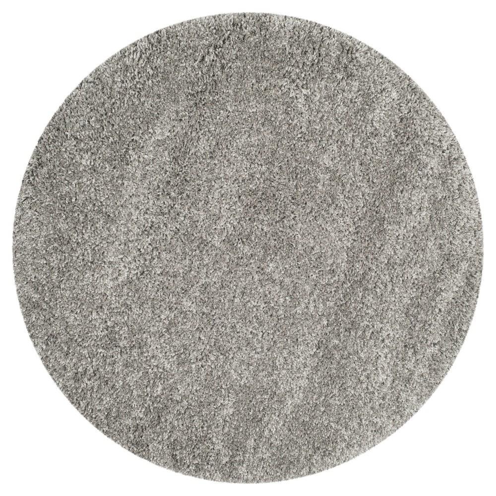 Quincy Area Rug - Silver (8' 6 Round) - Safavieh