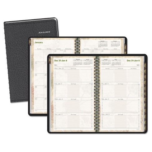 AT-A-GLANCE® Triple View Weekly/Monthly Appointment Book 8 1/4 x 10 7/8 Black 2018 - image 1 of 1