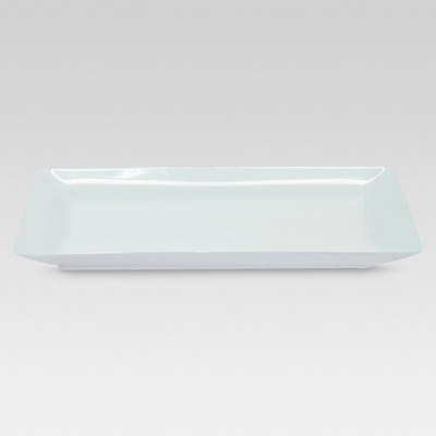 Rectangle Serving Tray 12.2 x6.46  Porcelain - Threshold™