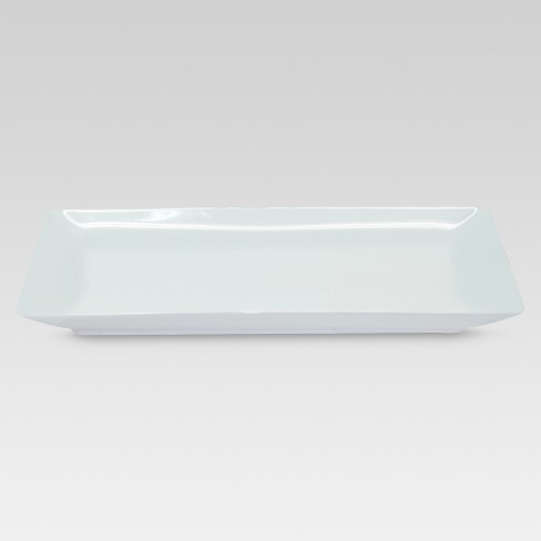 "Rectangle Serving Tray 12.2""x6.46"" Porcelain - Threshold™ - image 1 of 1"