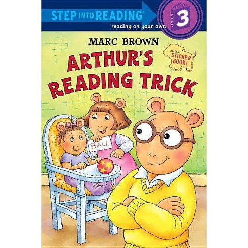 Arthur's Reading Trick - (Step Into Reading: A Step 3 Sticker Book (Pb)) by  Marc Tolon Brown - image 1 of 1