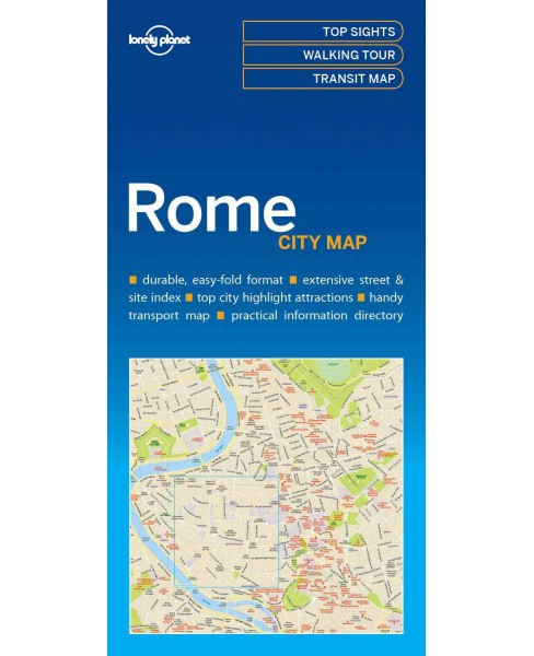 Lonely Planet City Map Rome (Paperback) - image 1 of 1
