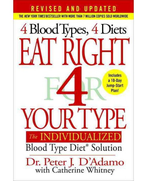 Eat Right 4 Your Type : The Individualized Blood Type Diet Solution (Hardcover) (Peter J. D'Adamo & - image 1 of 1