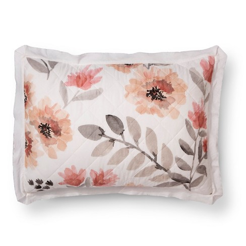 Watercolor Floral Quilt Sham - Threshold™ - image 1 of 2