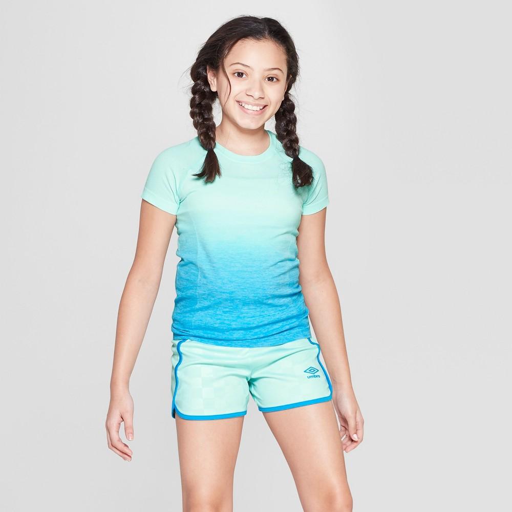 Umbro Girls' Ombre Short Sleeve Performance T-Shirt - Light Blue XL