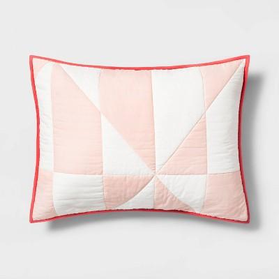 Standard Sham Modern Quilt Spa Peach - Hearth & Hand™ with Magnolia