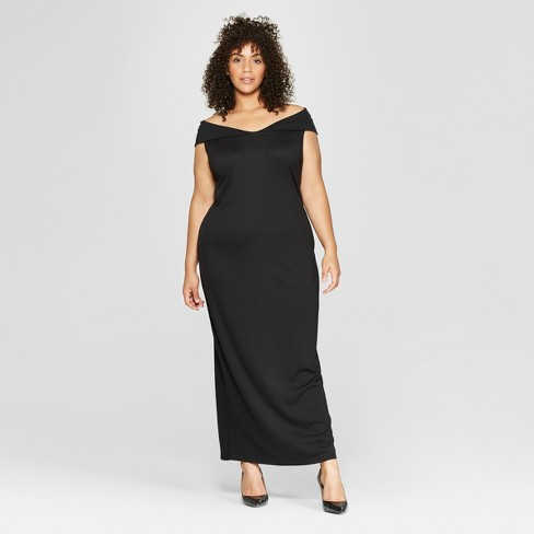 Women\'s Plus Size Off The Shoulder Knit Maxi Dress - Who What Wear ...