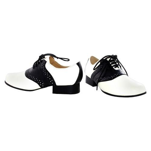 Halloween Girls' Saddle Shoes Black/White Costume - X-Large, Girl's, Size: XL (4-5)