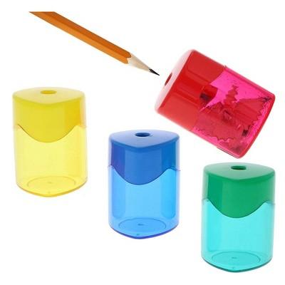 Juvale 24-Pack Manual Handheld Twist Cap Pencil Sharpener Arts and Crafts  , 4 Colors 1.6 x 1.6 x 2.1 In