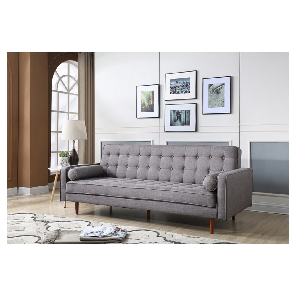 Fairfax Mid Century Modern Convertible Sofa Gray - Aeon