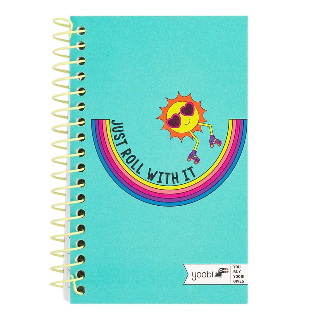Image of 1 Subject College Ruled Mini Spiral Notebook Blue - Yoobi