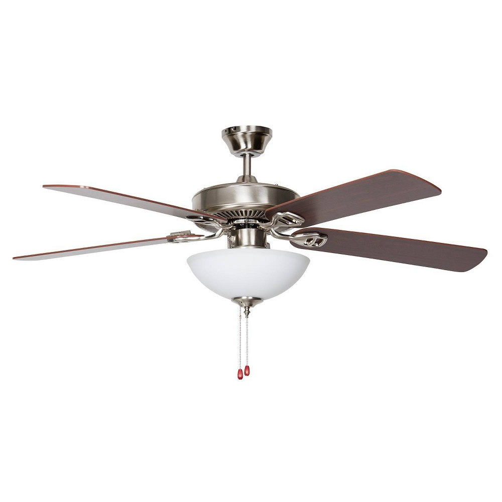 "Image of ""50"""" Heritage Square Easy Hang Ceiling Fan Stainless Steel - Concord Fans"""