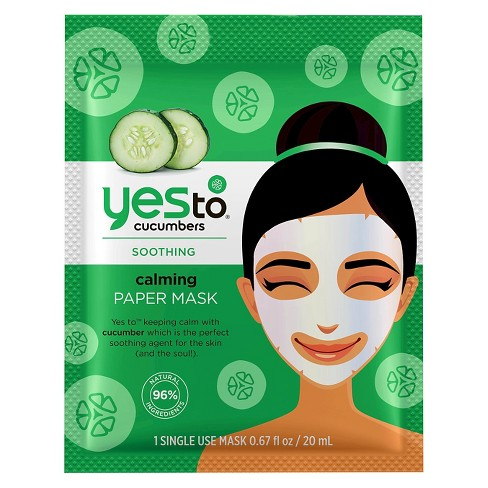 Yes To Cucumbers Calming Paper Mask - 1ct - image 1 of 2