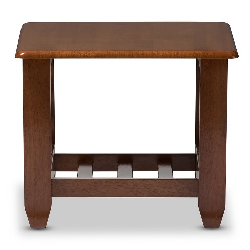 Larissa Modern Clic Mission Style Living Room Occasional End Table Cherry Brown Baxton Studio Target