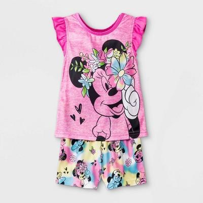 Baby Girls' Minnie Mouse Pajama Set - Pink