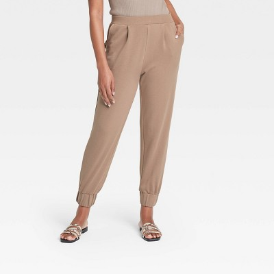 Women's High-Rise Ankle Length Jogger Pants - Who What Wear™