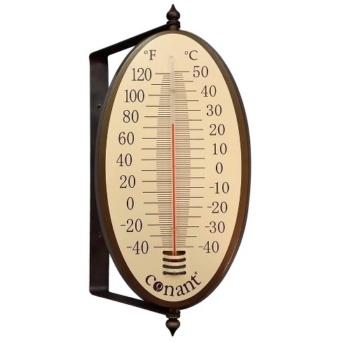 Vintage Oval Thermometer Bronze Patina - image 1 of 1