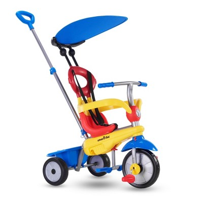 smarTrike Zoom Kids 4 in 1 Tricycle Push Bike, Adjustable Trike Ride On Toy for Baby, Toddler, and Infant Ages 15 Months to 3 Years, Multicolored