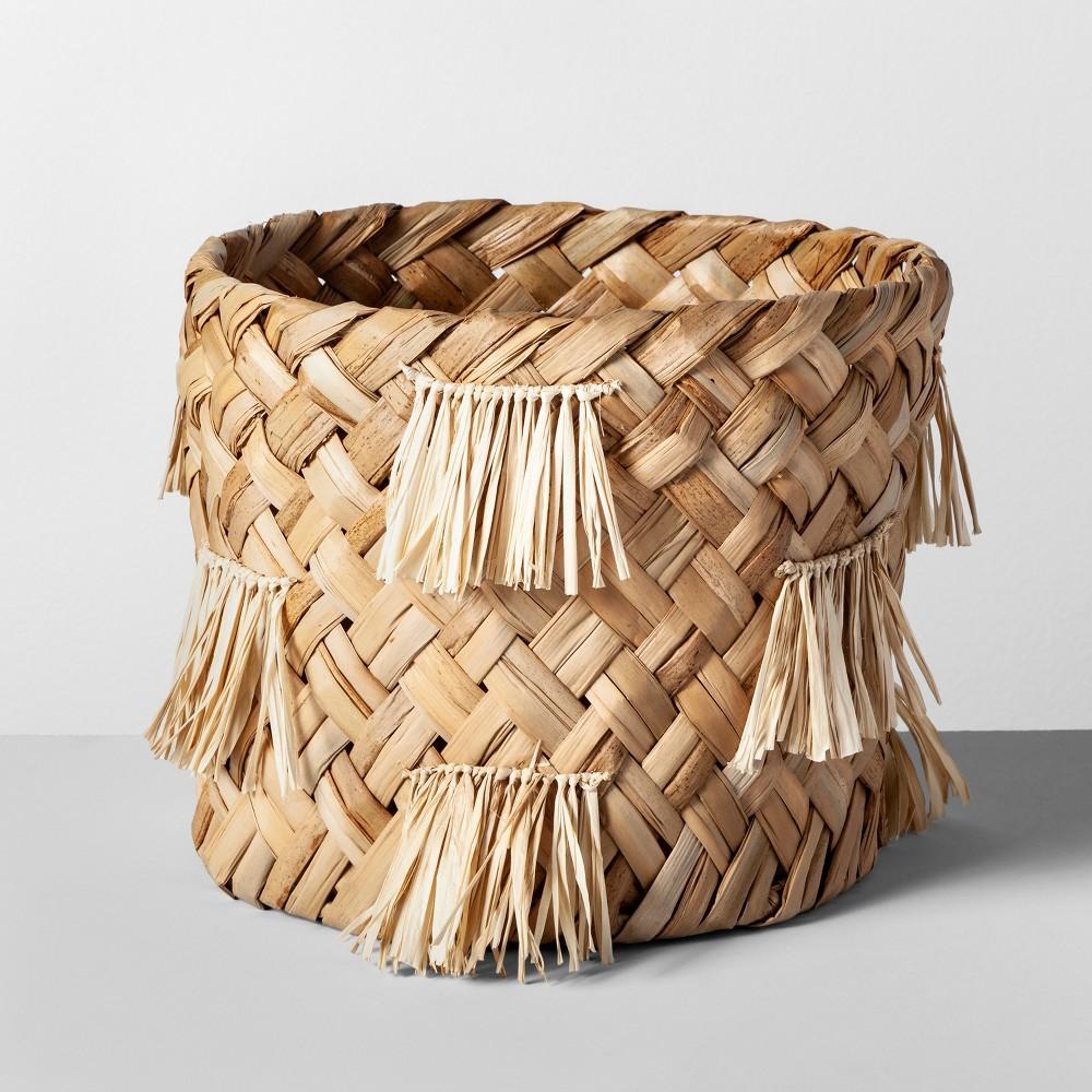 """Image of """"10.5"""""""" x 9.5"""""""" Water Hyacinth Fringe Basket Natural - Opalhouse"""""""