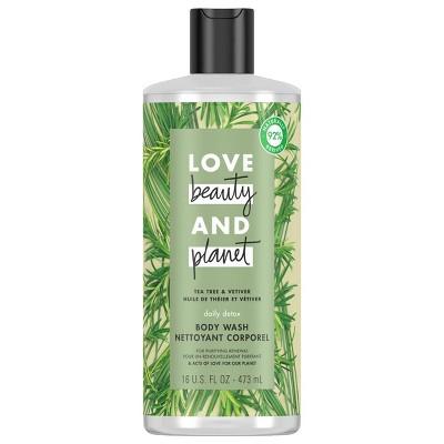 Love Beauty & Planet Tea Tree & Vetiver Daily Detox Body Wash Soap - 16 fl oz