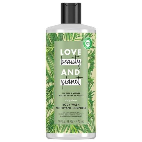 Love Beauty Planet Tea Tree Vetiver Daily Detox Body Wash Soap 16 Fl Oz Target