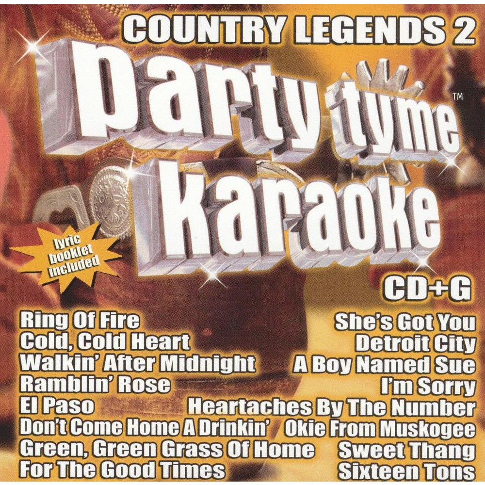 Party Tyme Karaoke - Country Legends Vol 2 (CD)