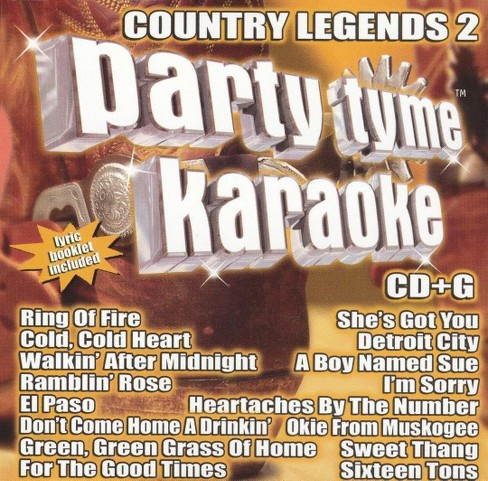 Party tyme karaoke - Country legends vol 2 (CD) - image 1 of 1
