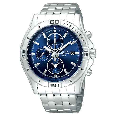 Men's Pulsar Chronograph - Silver Tone Blue Dial - PF8397 - image 1 of 1