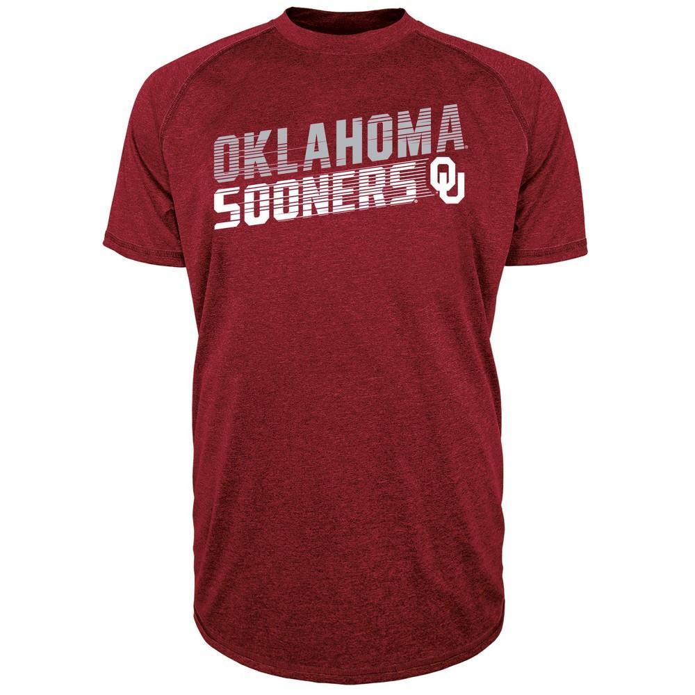 Oklahoma Sooners Men's Short Sleeve Raglan Performance T-Shirt - M, Multicolored