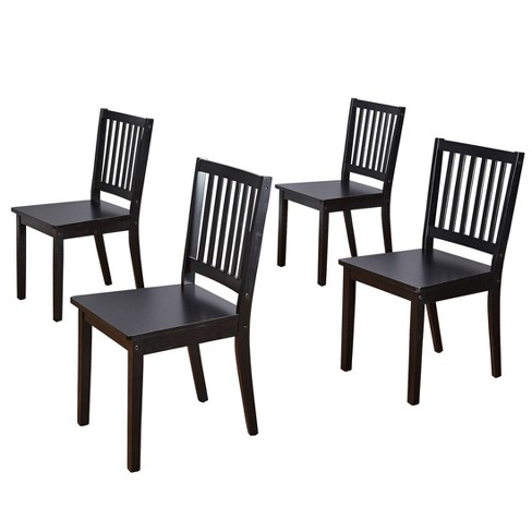 4pc Shaker Dining Chairs Black, Black Wooden Dining Chairs Set Of 4