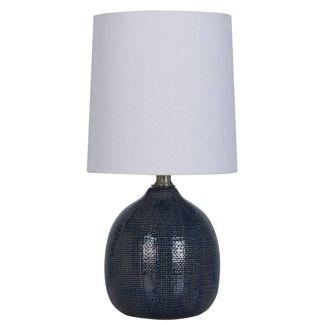 Textured Ceramic Mini Accent Lamp Navy - Threshold™