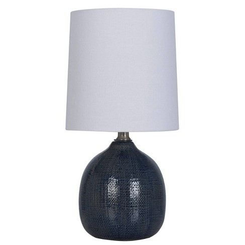 Ceramic Pattern Accent Lamp Navy  - Threshold™ - image 1 of 1